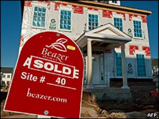 Casa em consrução e já vendida nos Estados Unidos (foto: AFP)