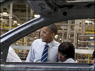 اوباما من مصنع للسيارات في ديترويت: استمرار النمو يدعو للارتياح