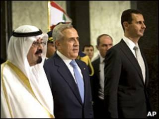 Король Абдалла, Мишель Сулейман и Башар Асад