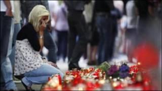تبكي ضحايا حادث التدافع