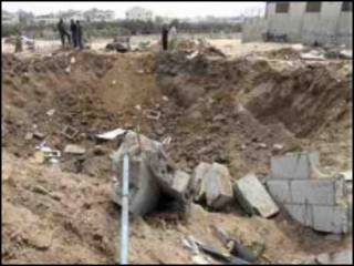 موقع استهدفته الغارة في غزة