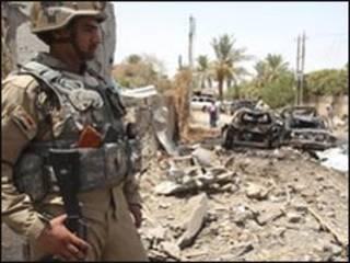 عکس آرشیوی از صحنه یک انفجار در عراق