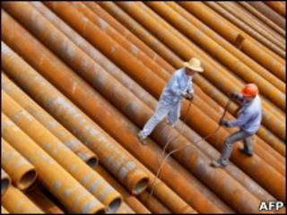 Trabajadores en China
