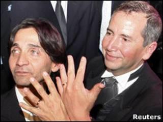 Giorgio Nocentino y Jaime Zapata de Chile contraen matrimonio en Argentina