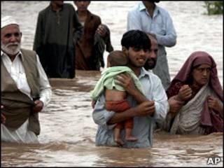 Damnificados en Pakistán