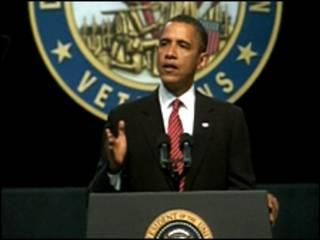 Барак Обама на конгрессе ветеранов