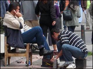 Lustrabotas en Bogotá