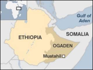 Ethiopia Ogadenia Map