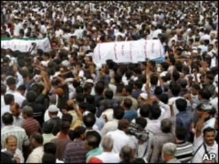 Похороны Хайдера в Карачи