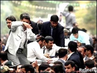 محمود احمدی نژاد در همدان