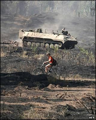 Veículo militar na região russa de Voronezh
