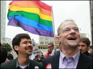 شادمانی زوج های همجنس در کالیفرنیا