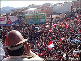 Protesta en Potosí