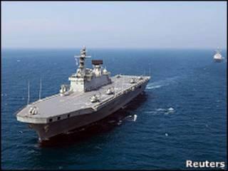 Barco de guerra de Corea del Sur