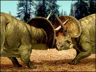 Imagen computarizada de triceratops