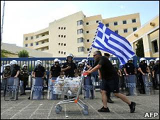 Демонстрации в Греции