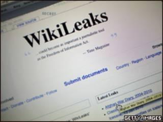 Imagem do site Wikileaks (Getty Images/Arquivo)