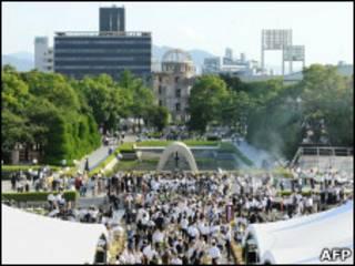 Evento marca 65 anos da bomba de Hiroshima