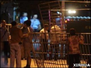 中國警方通緝的長沙稅務局爆炸案疑犯劉贅衡周日(8日)早晨在廣西境內被捕(新華社圖片)