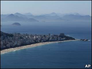 Vista aérea de las playas de Río de Janeiro