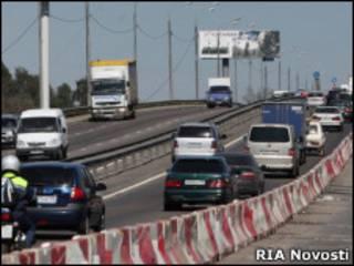 Аварийный мост на Ленинградском шоссе
