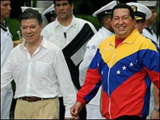 Santos dan Chavez bertemu di Santa Marta, Kolombia