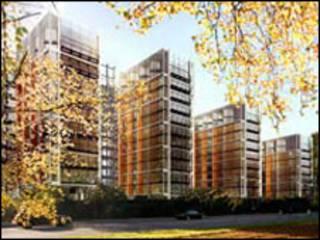 Concepção artística do condomínio One Hyde Park, em Londres (Divulgação)