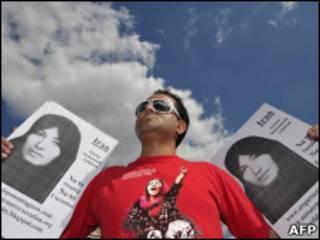 Protesto em Londres pedindo a libertação de Sakineh