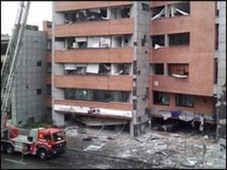 صحنه انفجار در بوگوتا