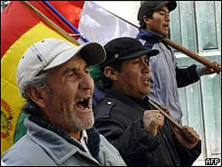 Protesto em Potosí (foto de arquivo)