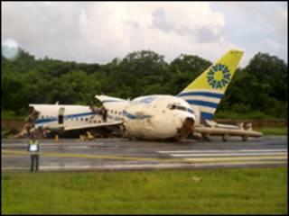 هواپیمای حادثه دیده کلمبیایی