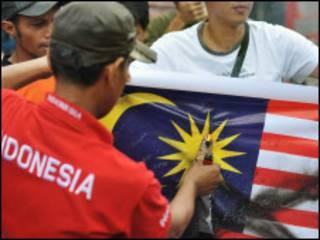 Demo anti Malaysia di Jakarta
