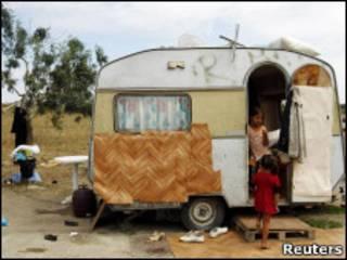 цыганский табор в Нанте