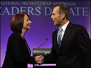 Julia Gillard e Tony Abbott