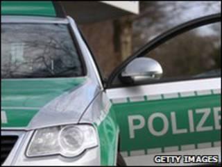 Carro de polícia alemão