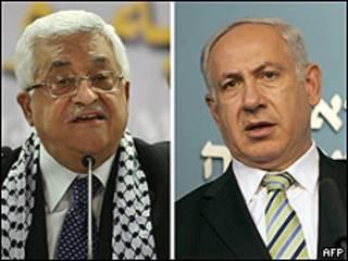 Mahmud Abbas y Benjamin Netanyahu.