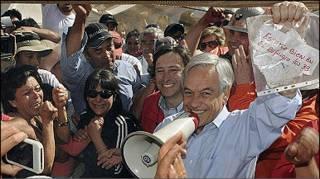 Чилійський президент Піньєра з посланням від гірників