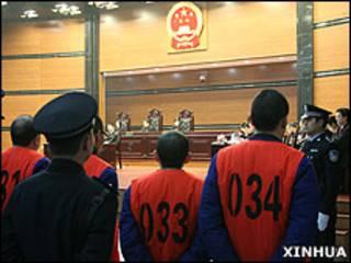 龔剛模、樊奇杭案在重慶第一中級法院審理(新華社圖片5/1/2010)