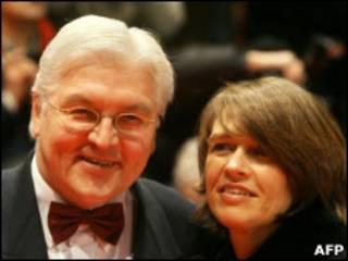Франк Штайнмайер с женой