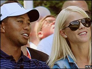 Tiger Woods e a ex-mulher, Elin Nordegren