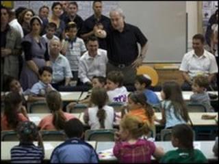 بنیامین نتانیاهو در میان دانش آموزان اسرائیلی