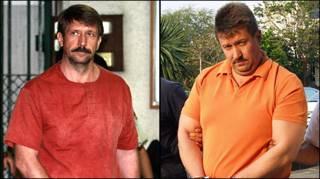 Виктор Бут сразу после ареста и через два года