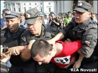 Разгон митинга в Петербурге 31 июля