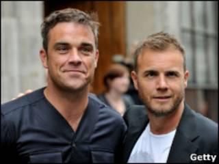 Robbie Williams y Gary Barlow