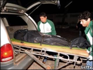 Cadáver de Severiano Martínez.