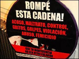 Detalle de anuncio contra la Trata de mujeres Argentina