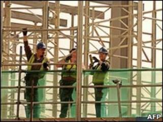 Trabalhadores da construção civil na Grã-Bretanha