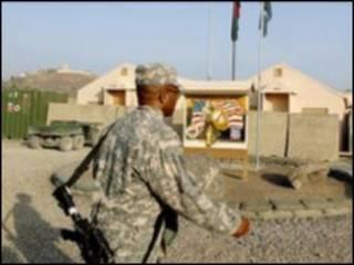 Soldier at Forward Operating Base