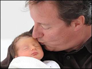 المولودة الجديدة لديفيد كاميرون