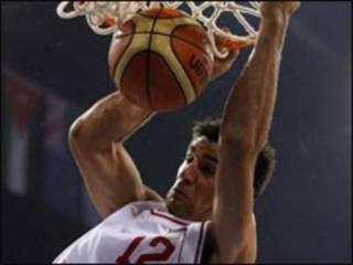 بازیکن تیم ملی بسکتبال ایران (عکس از آرشیو)